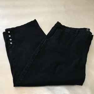 NYDJ Black Denim Cropped pants sz 18 W